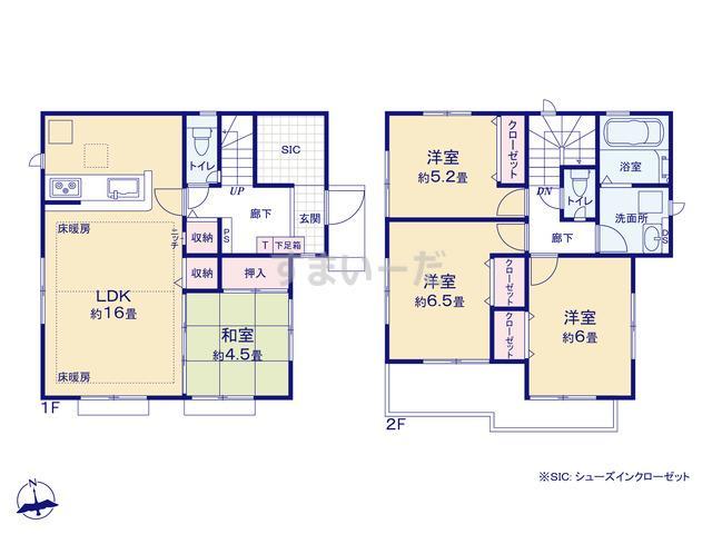グラファーレ 立川市錦町2期4棟の見取り図