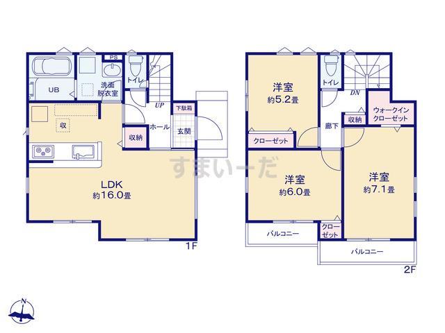 リナージュ 横浜市緑区青砥町19-1期の見取り図