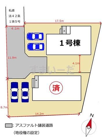 リーブルガーデン 佐賀市開成第二の見取り図