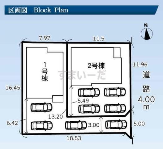 グラファーレ 浜松市領家5期2棟の見取り図