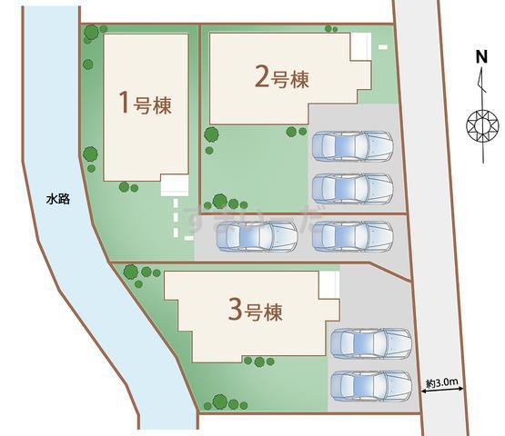 ハートフルタウン 御殿場萩原2期の見取り図