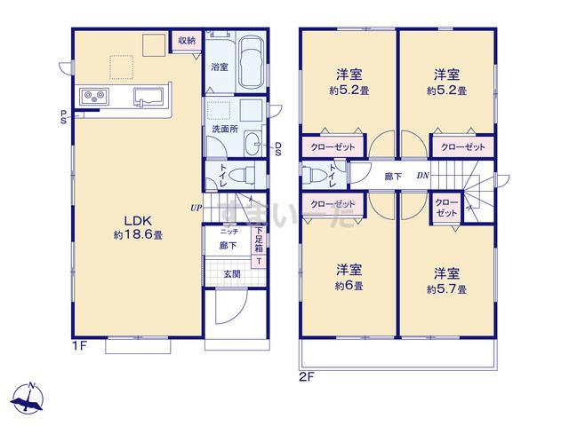 グラファーレ 横浜市善部町2期2棟の見取り図