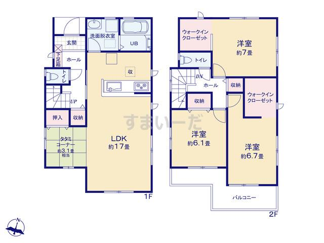 リーブルガーデン 垂水区舞子坂2期の見取り図