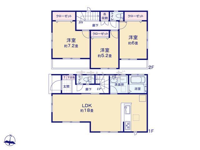 グラファーレ 福岡市田隈2期2棟の見取り図
