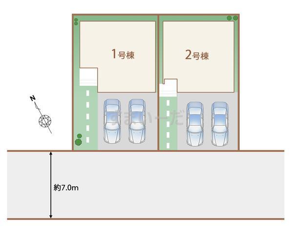 ハートフルタウン 沖縄市泡瀬VIの見取り図