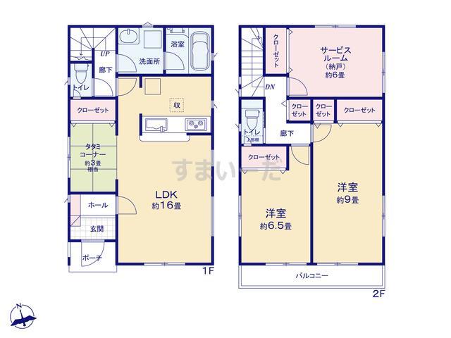 クレイドルガーデン 名古屋市緑区浦里 第2の見取り図