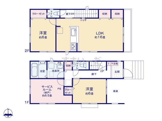 グラファーレ 江戸川区東葛西3期1棟の見取り図