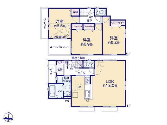 リナージュ 町田市玉川学園 19-1期の見取り図
