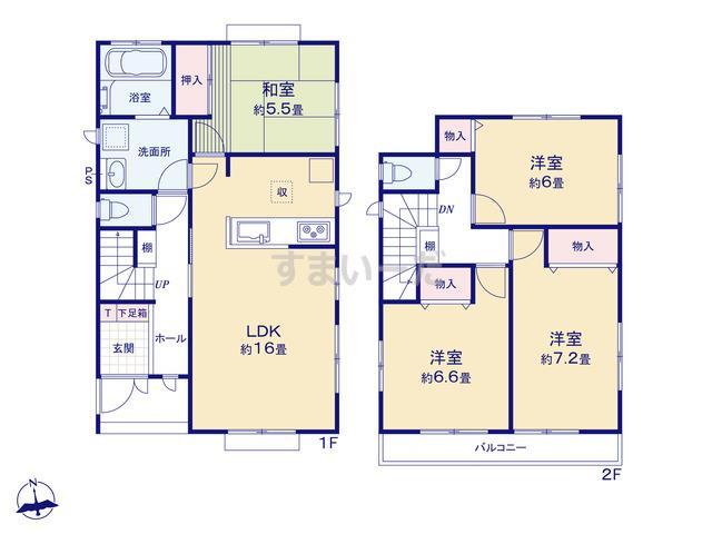 ハートフルタウン 鶴田町21期の見取り図