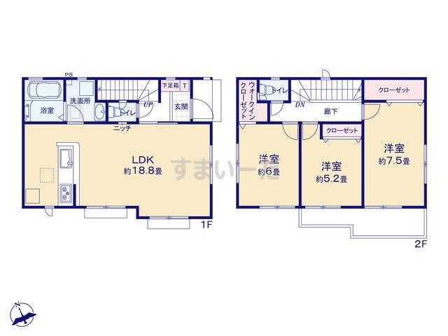 グラファーレ 立川市錦町3期5棟の見取り図