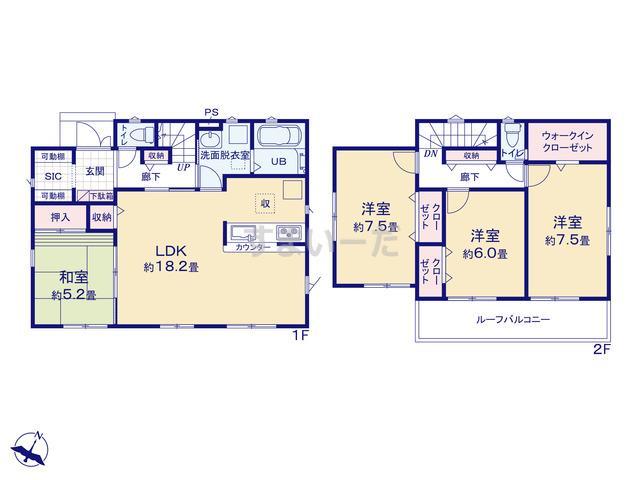 リナージュ 八千代市大和田新田19-2期の見取り図