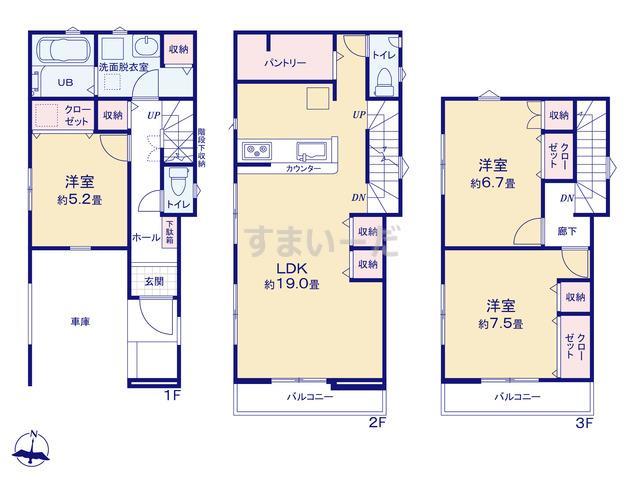 リナージュ 江戸川区東小岩19-1期の見取り図