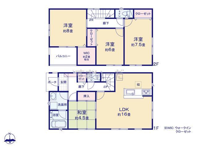 クレイドルガーデン 横浜市戸塚区舞岡町 第3の見取り図
