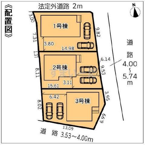 グラファーレ 浜松市志都呂町3棟の見取り図