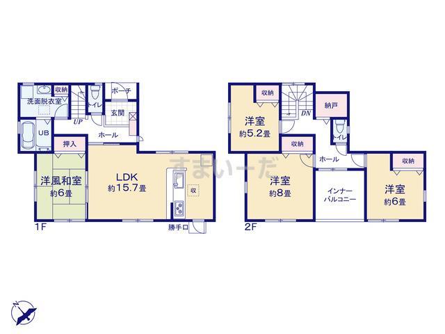 リーブルガーデン 加古川市山手4期の見取り図
