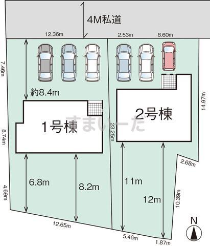 グラファーレ 宇都宮市峰町2棟の見取り図