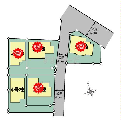 ブルーミングガーデン 日野市万願寺1丁目5棟の見取り図