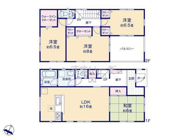 クレイドルガーデン 熊本市南区八分字町 第8の見取り図