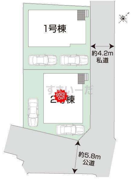ブルーミングガーデン 広島市安佐南区大塚西3丁目2棟の見取り図