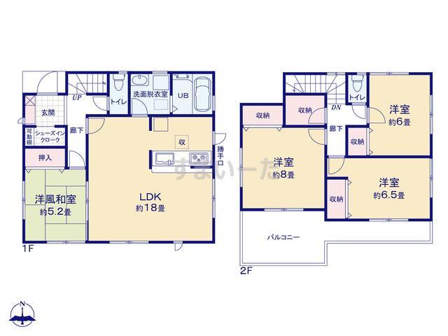 リーブルガーデン 大和高田市中三倉堂5期の見取り図