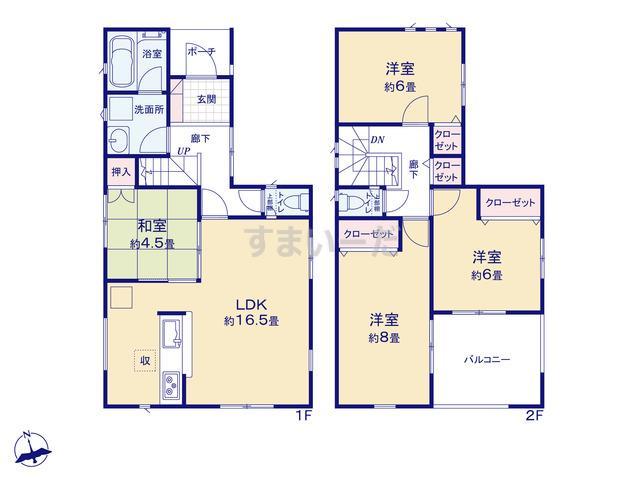 クレイドルガーデン 京都市山科区大宅打明町 第1の見取り図