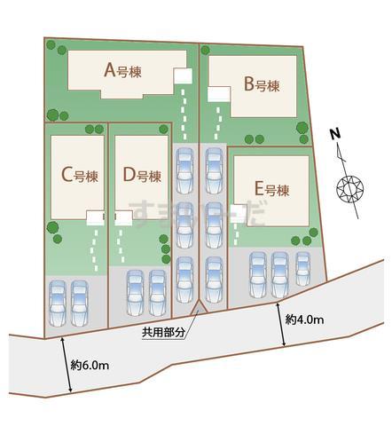 ハートフルタウン 沖縄市登川IVの見取り図