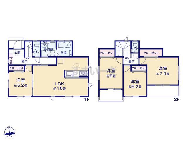 グラファーレ 福岡市向新町3棟の見取り図