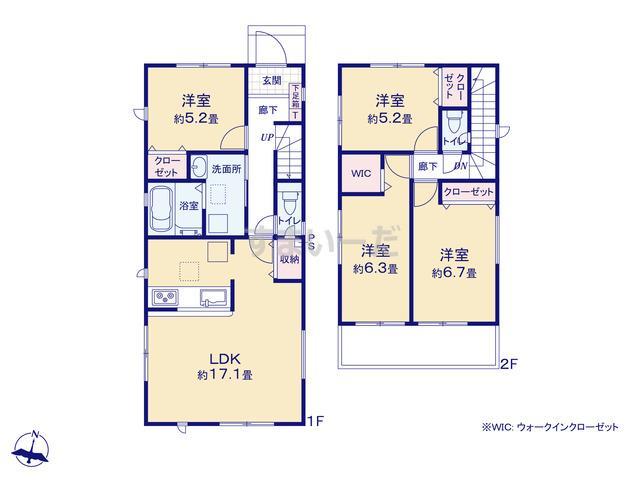 グラファーレ 名古屋市西又兵ヱ町2期1棟の見取り図