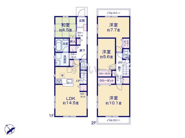 クレイドルガーデン 名古屋市緑区鳴海町 第19の見取り図