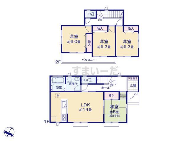 ハートフルタウン 宝塚中山五月台の見取り図