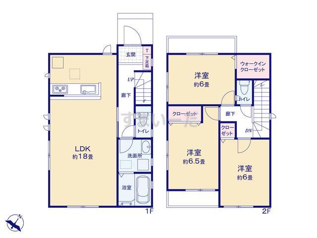 グラファーレ 広島市亀崎2棟の見取り図