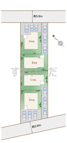 ハートフルタウン 名護市宇茂佐の森IIの見取り図