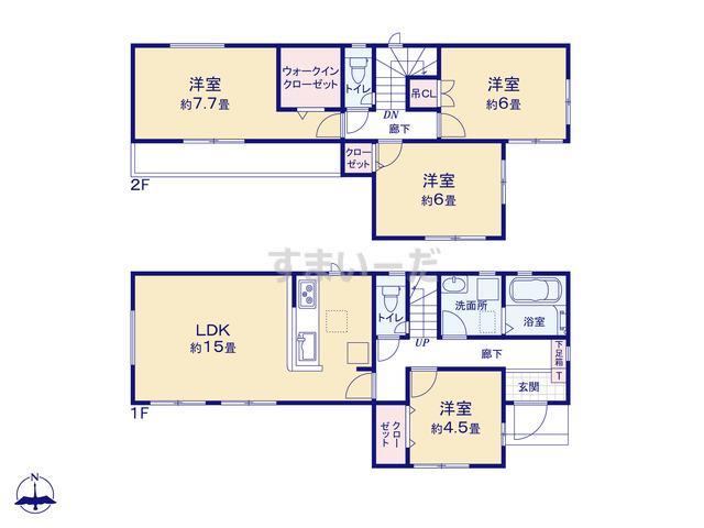グラファーレ 北名古屋市熊之庄7期3棟の見取り図