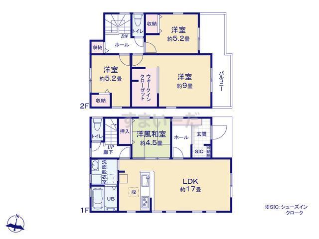 リーブルガーデン 安城市小川町の見取り図