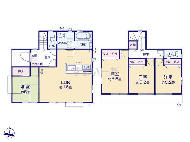 グラファーレ 横浜市中白根5期1棟の見取り図