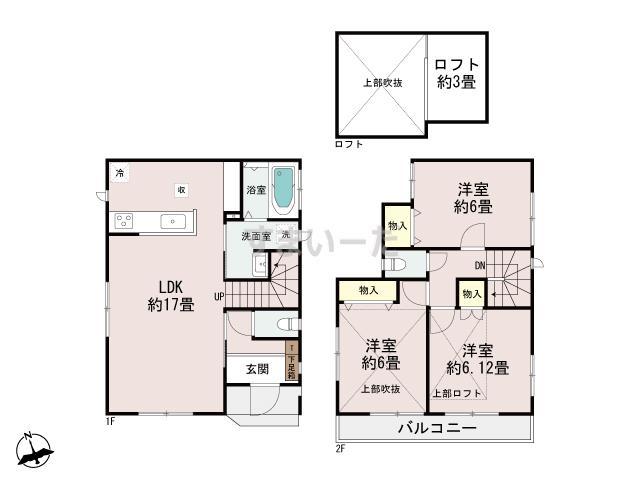 ハートフルタウン(神戸) 明石朝霧町Ⅴの見取り図