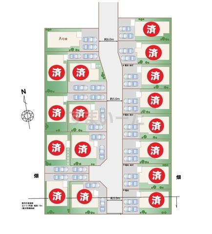 ハートフルタウン 立川西砂町3期の見取り図