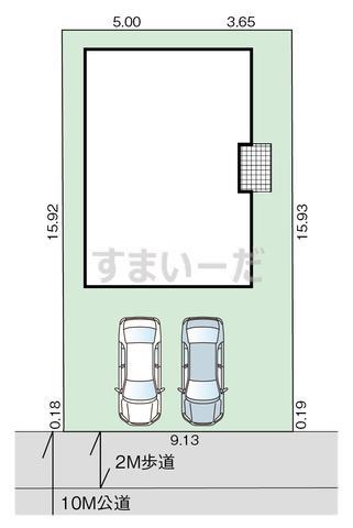 グラファーレ 宇都宮市清原台9期1棟の見取り図