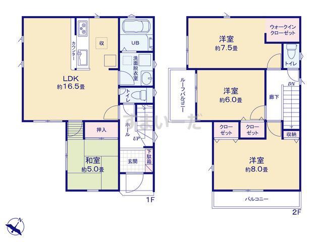 リナージュ 宇治市小倉町新田島19-1期の見取り図