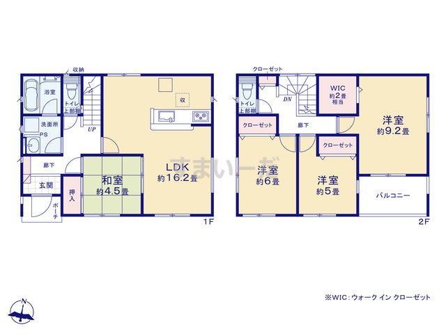 クレイドルガーデン 御殿場市東田中 第3-3期の見取り図