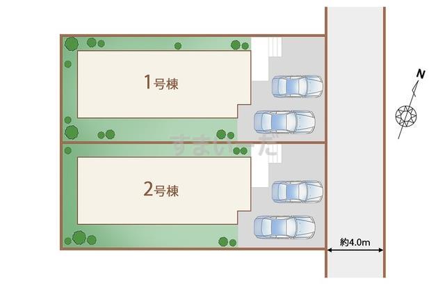 ハートフルタウン 仙台滝道6期の見取り図