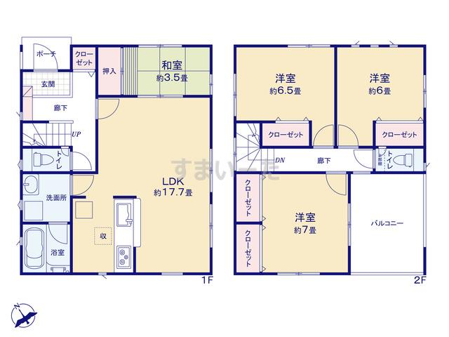クレイドルガーデン 神戸市垂水区東垂水町 第1の見取り図