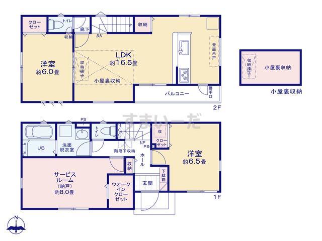 リナージュ 横浜市緑区鴨居19-1期の見取り図