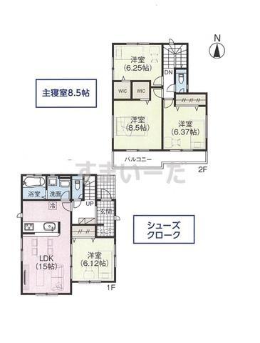 グラファーレ 太宰府市通古賀2棟の見取り図