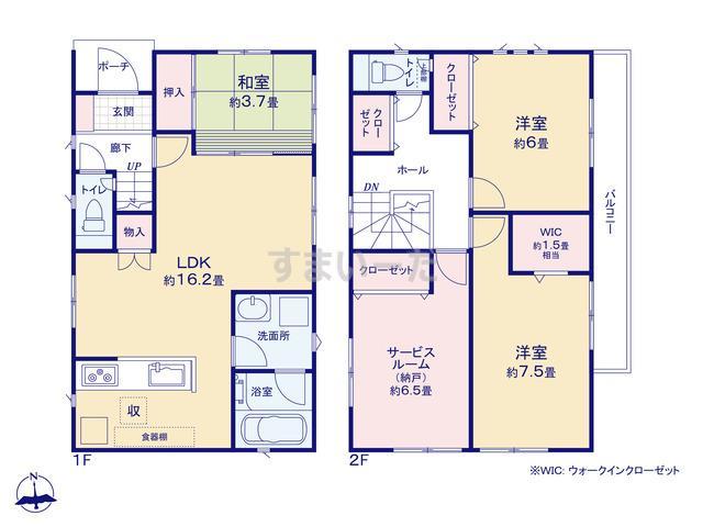 クレイドルガーデン 枚方市香里ヶ丘 第4-II期の見取り図