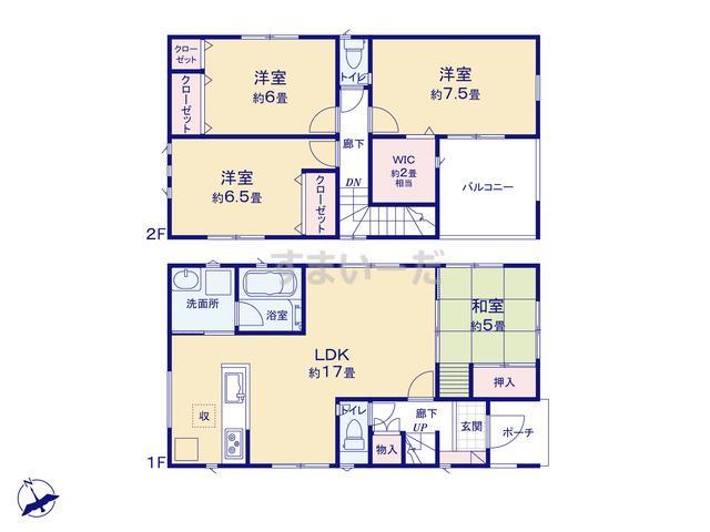 クレイドルガーデン 神戸市垂水区学が丘 第3の見取り図