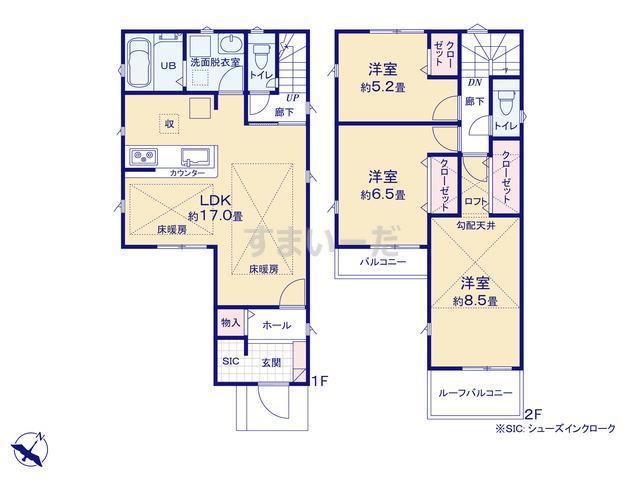 リナージュ 大阪市西淀川区花川19-1期の見取り図