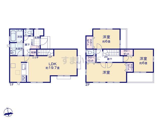 グラファーレ 朝霞市根岸台14期2棟の見取り図