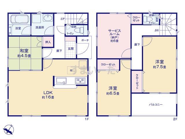 クレイドルガーデン 枚方市宮之阪 第3の見取り図
