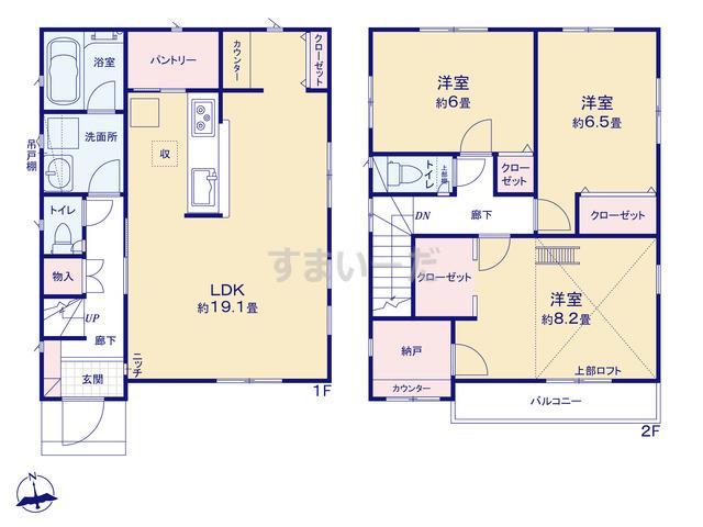 クレイドルガーデン 小金井市貫井北町 第4の見取り図